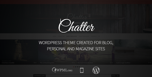 Chatter – Responsive WordPress Blog Theme