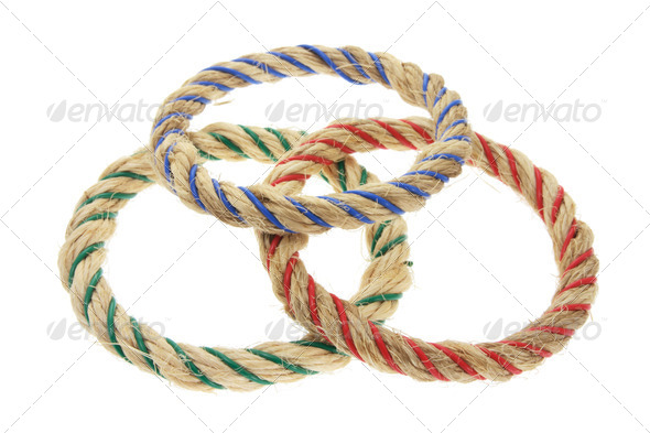Ring Toss Game Ropes - Stock Photo - Images