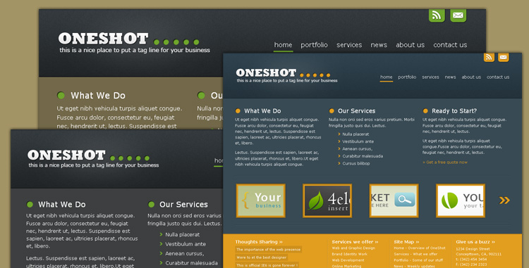 Free Download Oneshot - Portfolio/Business Template Nulled Latest Version