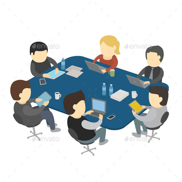 People Working at a Table - Business Conceptual