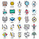 Education and Learning Doodle Icons - GraphicRiver Item for Sale