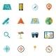Navigation Icon Flat Set - GraphicRiver Item for Sale