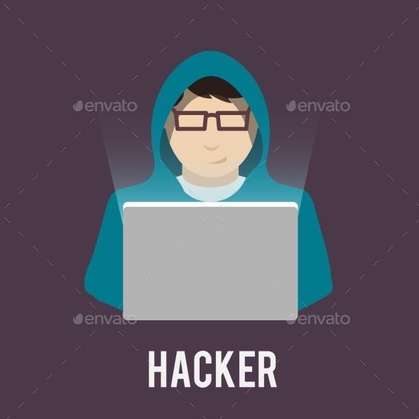Hacker Icon - People Characters
