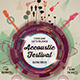 Minimal Accoustic Festival Flyer - GraphicRiver Item for Sale