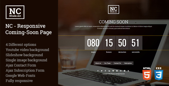 NC – Responsive Coming-Soon Page