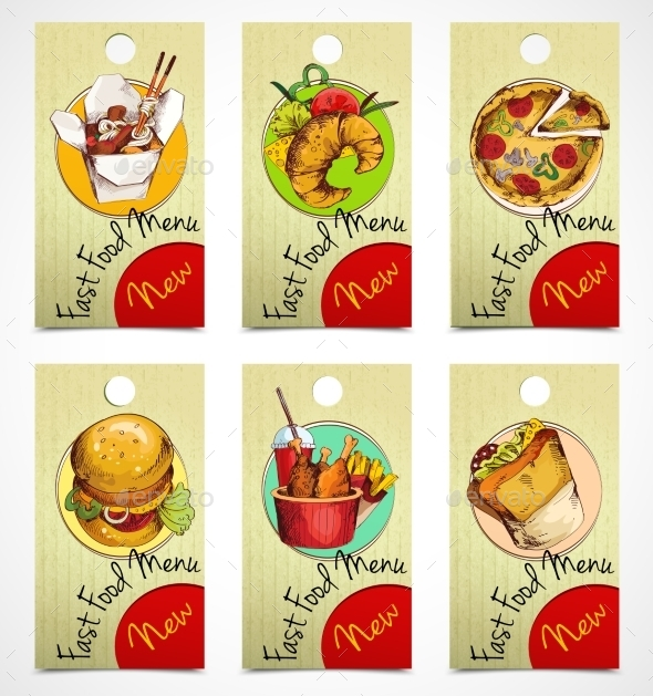 Fast Food Tags - Food Objects