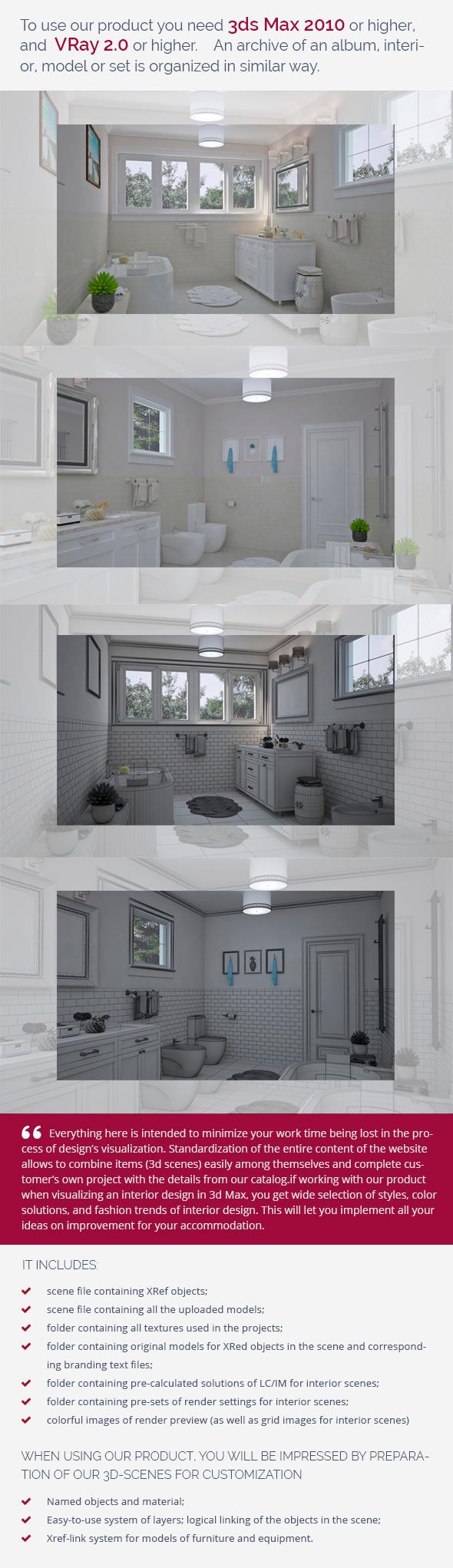 Bathroom 0374 - 3DOcean Item for Sale