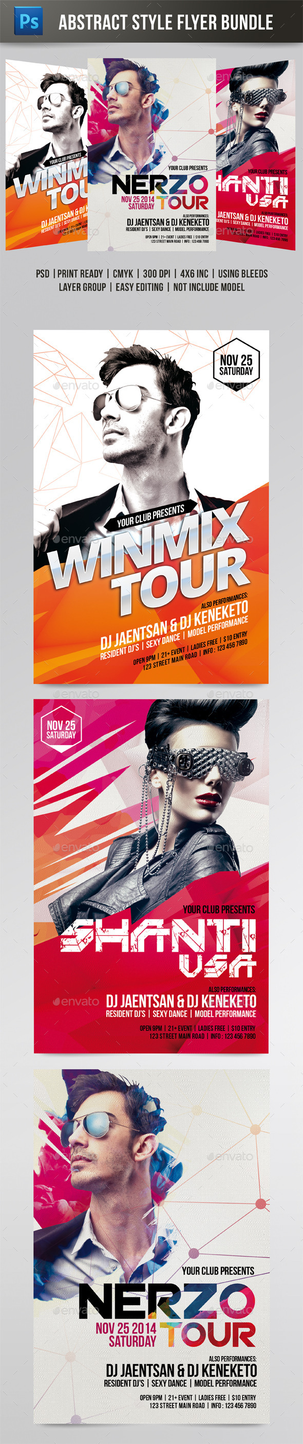Abstract Style Flyer Bundle - Events Flyers