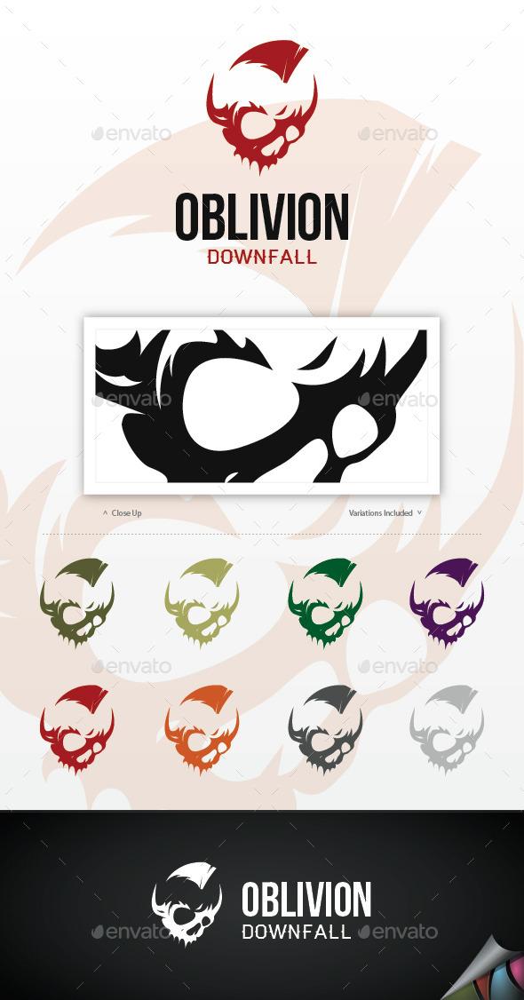 Oblivion Skull Logo - Symbols Logo Templates