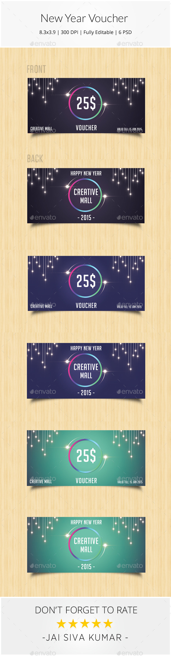 New Year Gift Voucher - Loyalty Cards Cards & Invites