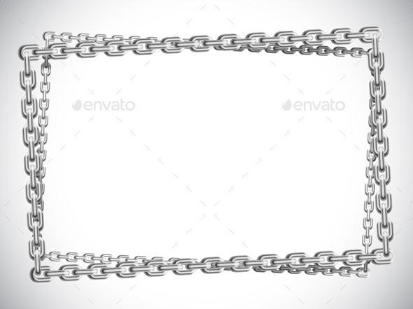 Metal Chain Frame - Borders Decorative