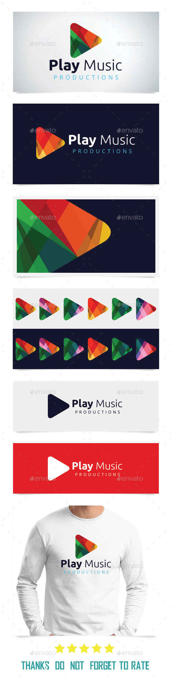 Play Music  - Abstract Logo Templates