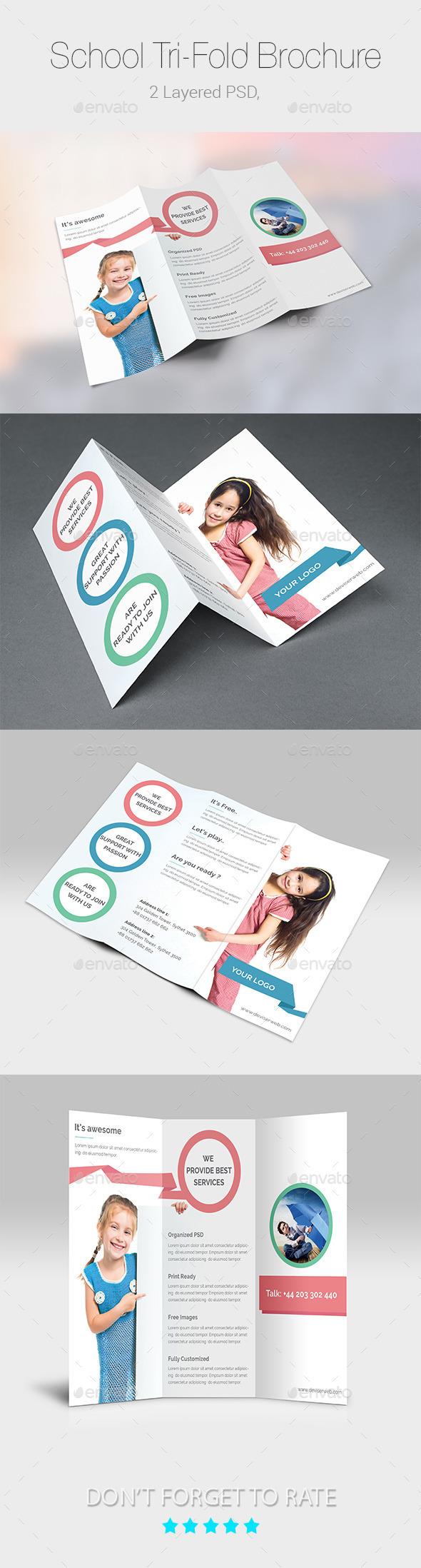 School/Educational Tri-Fold Brochure Templates - Corporate Brochures