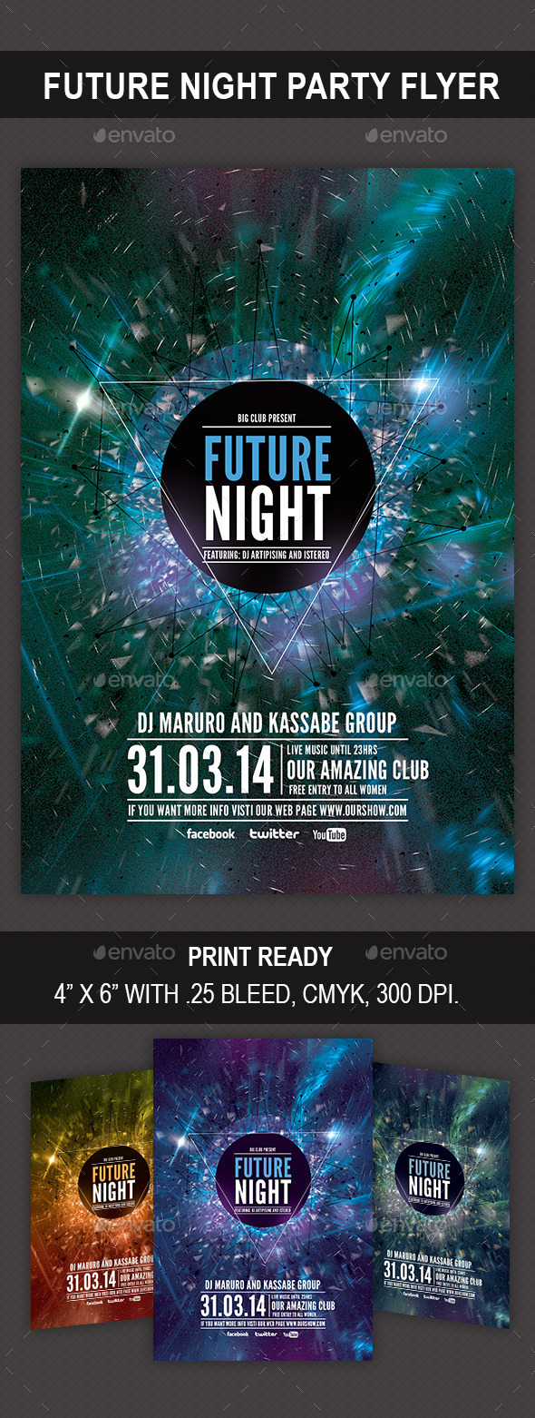 Future Night Flyer - Flyers Print Templates