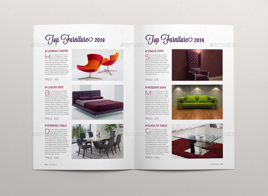 Universal Magazine Template By Habageud2