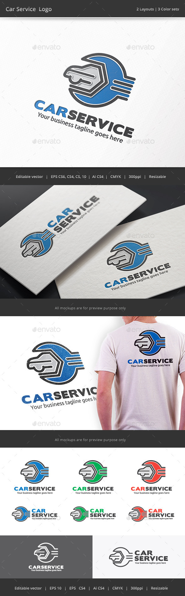 Car Service Garage Logo - Objects Logo Templates
