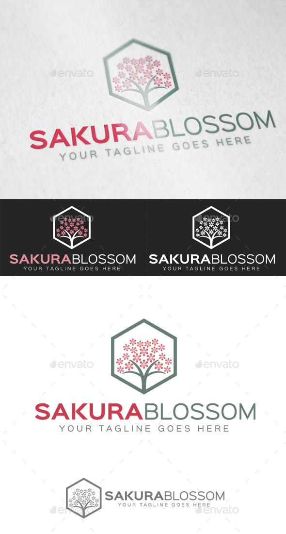 Sakura Blossom Logo Template - Nature Logo Templates