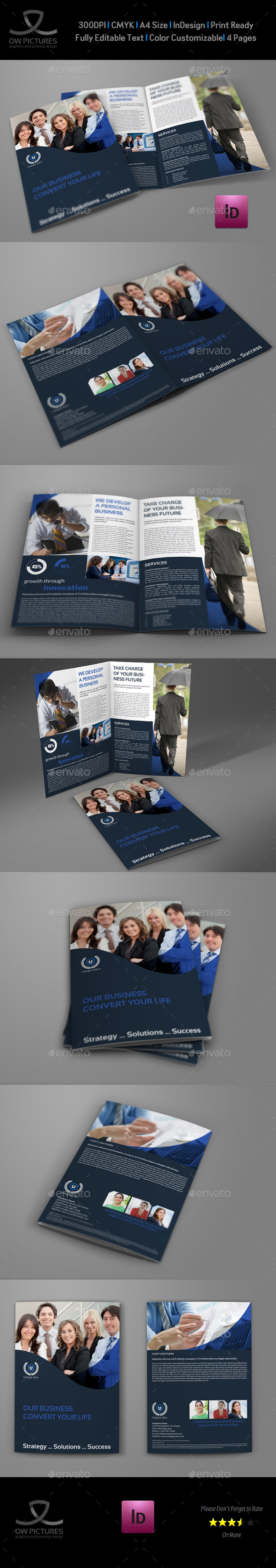 Company Brochure Bi-Fold Template Vol.36 - Corporate Brochures
