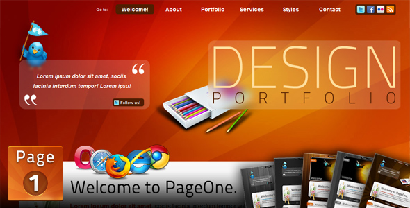 Free Download PageOne - HTML one page Portfolio Site Nulled Latest Version