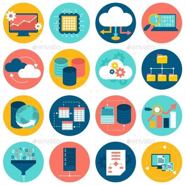 Data Analysis Icons - Technology Icons