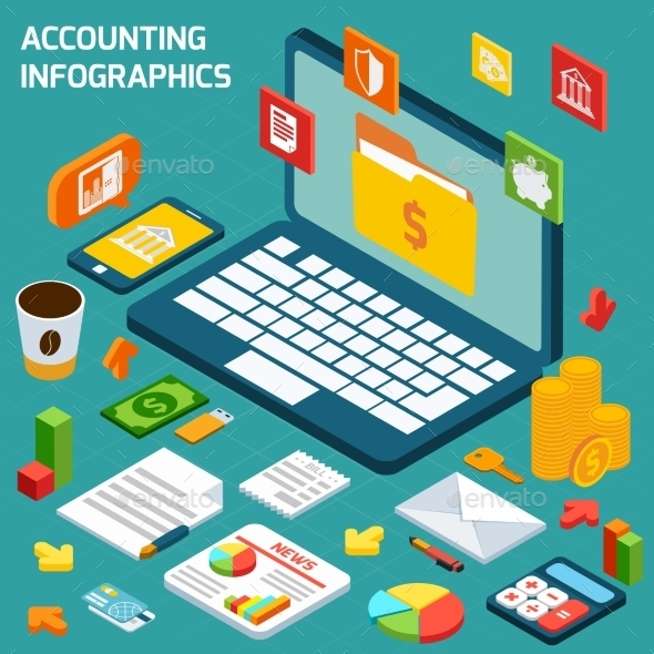 Accounting Infographics Set - Business Conceptual