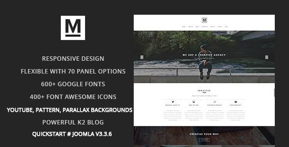 Max – Creative & Minimal One Page Joomla Template