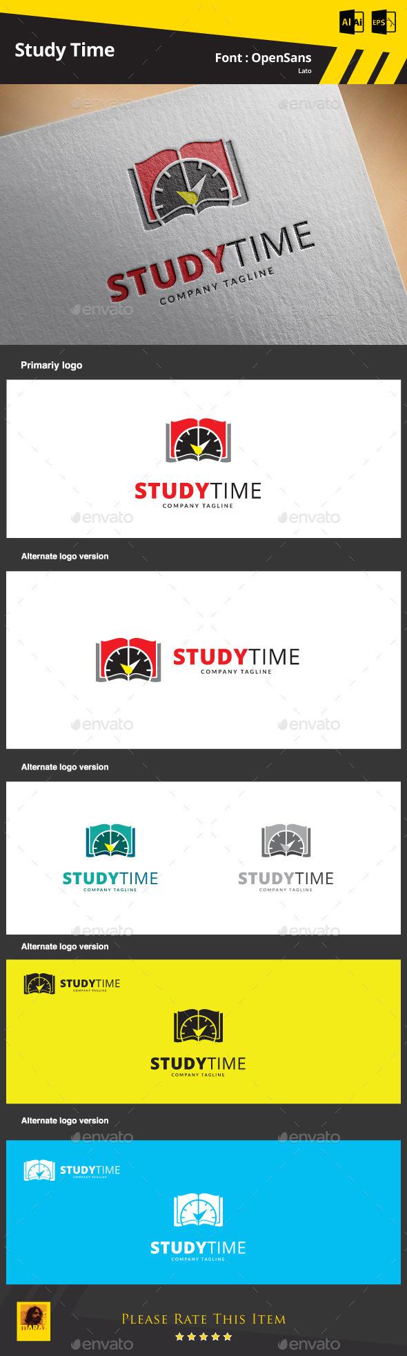 Study Time Logo Template - Symbols Logo Templates