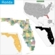Florida Map - GraphicRiver Item for Sale