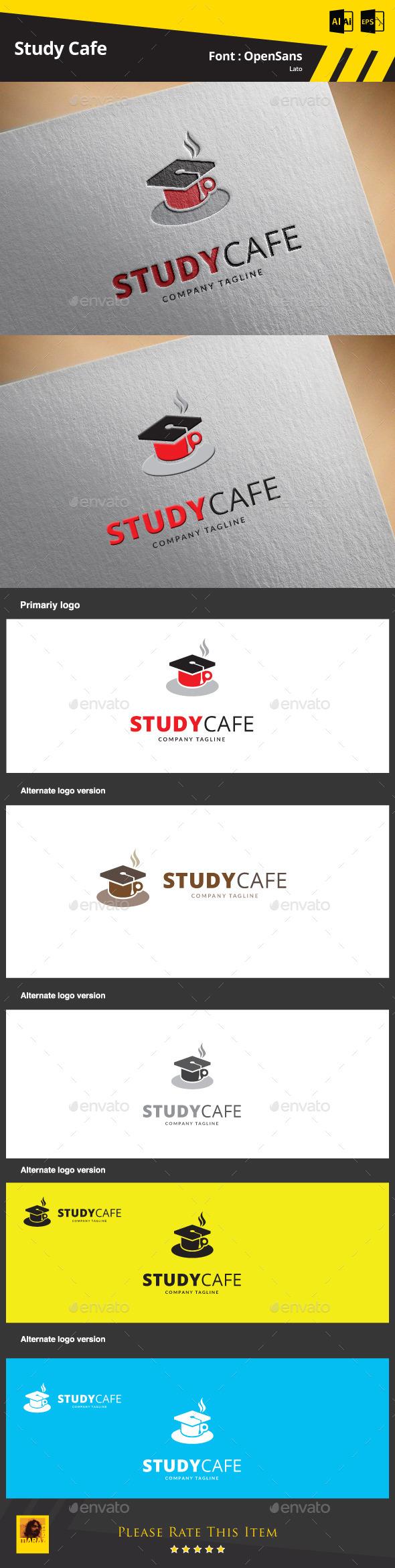 Study Cafe Logo Template - Symbols Logo Templates