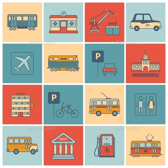 City Infrastructure Icons - Web Icons
