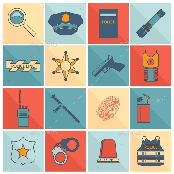Police Icons Set - Icons