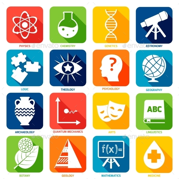 Science Areas Icons - Web Icons