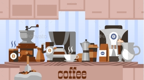 Coffee Home Concept - Food Objects