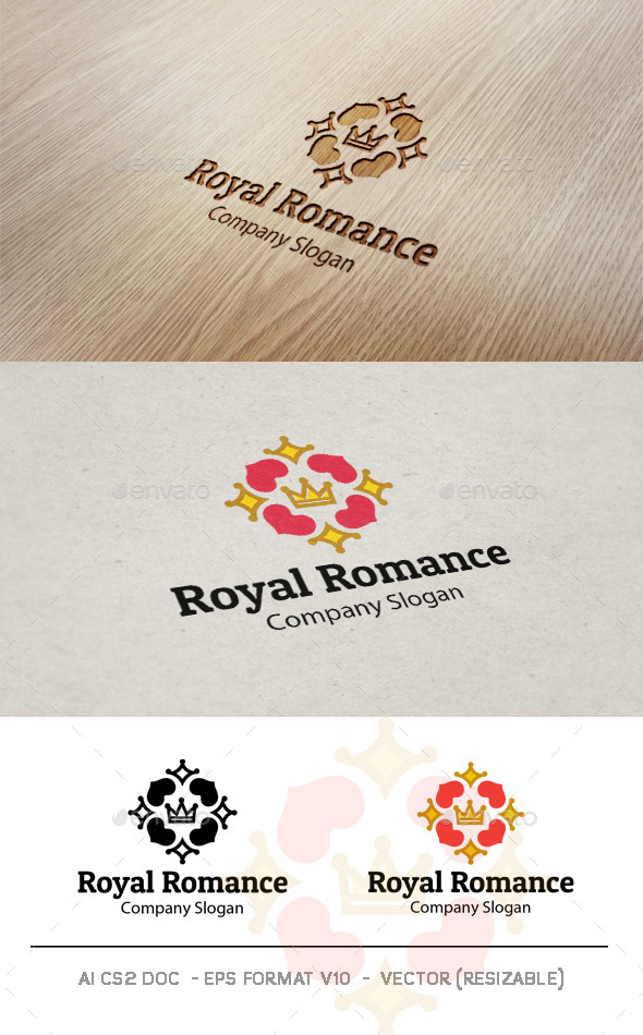 Royal Romance V2 Logo - Symbols Logo Templates