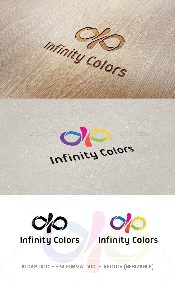 Infinity Colors Logo - Abstract Logo Templates