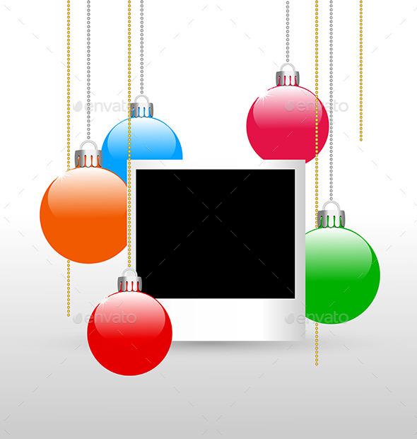 Photoframe with Christmas Balls - Christmas Seasons/Holidays