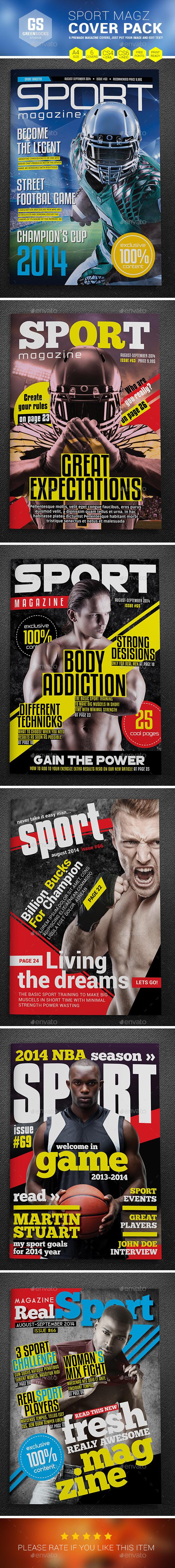Sport Cover Templates - Magazines Print Templates