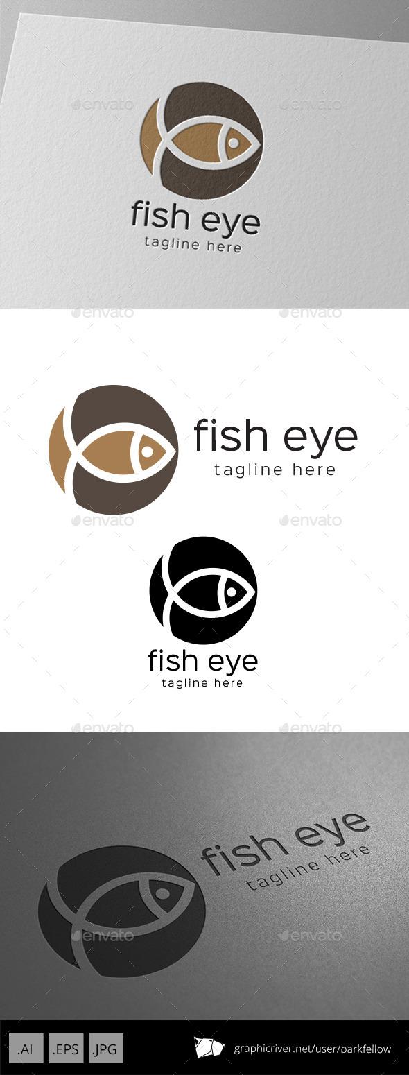 Fish Eye Circle Logo - Symbols Logo Templates