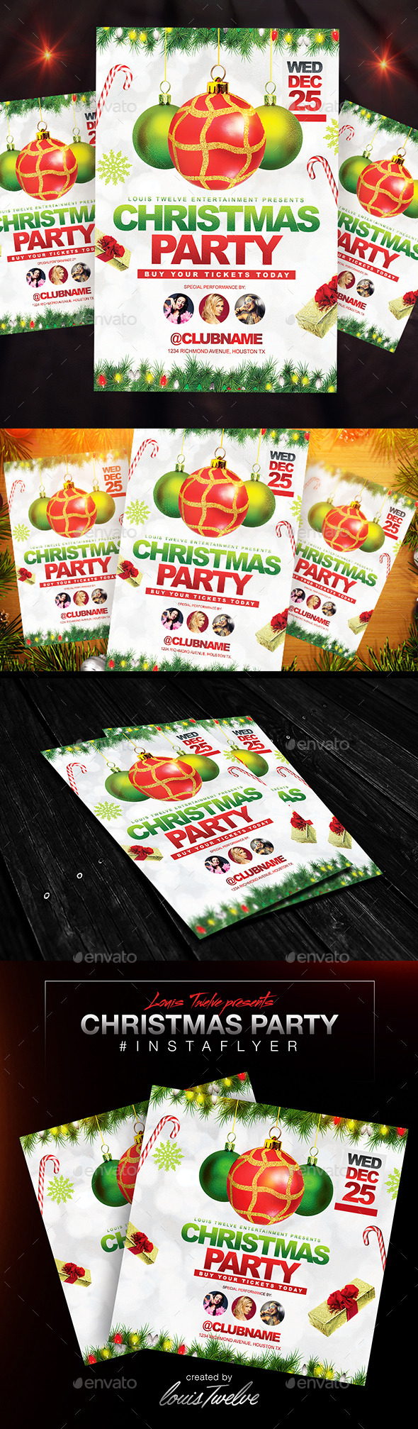 Christmas Party Flyer + Instapromo