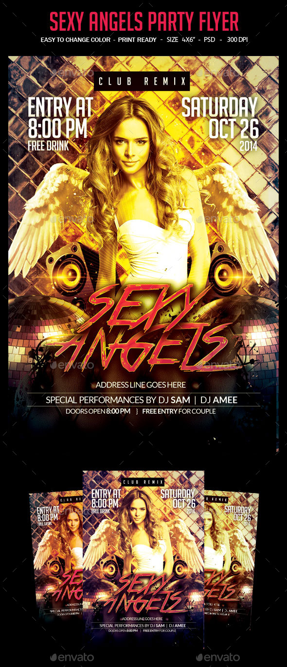 Sexy angels Party Flyer - Clubs & Parties Events