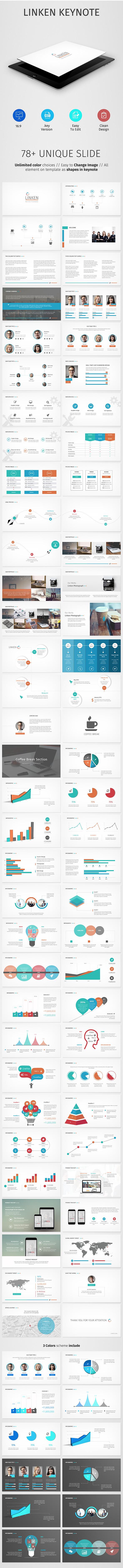 Linken Keynote Presentation - Business Keynote Templates