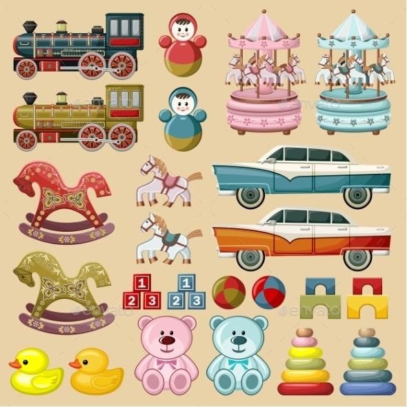 Set of Toys.  - Decorative Vectors