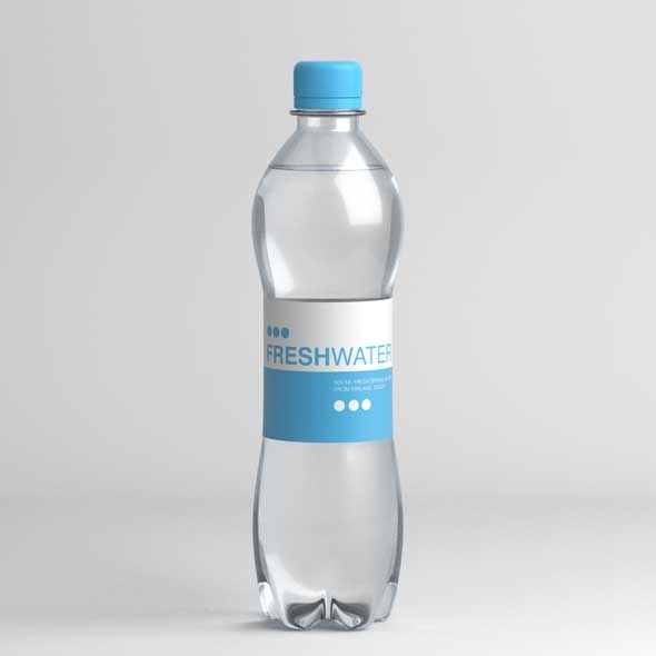 Water bottle - 3DOcean Item for Sale