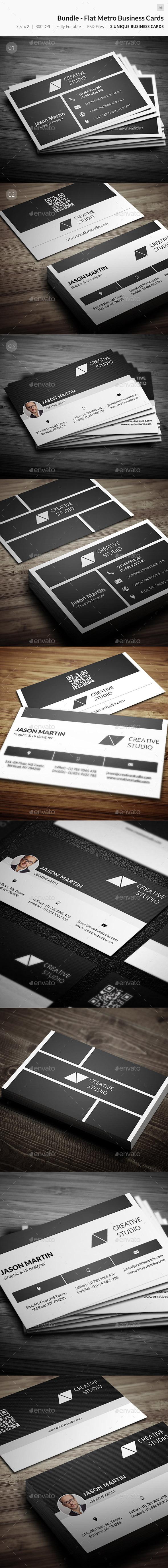 Bundle - Flat Metro Business Card - 46 - Creative Business Cards