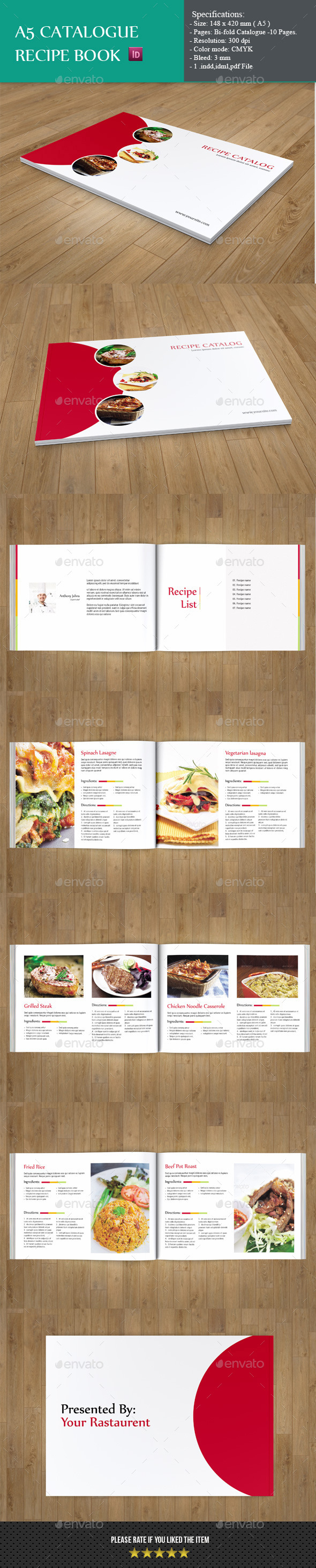 A5 Catalog-Minimal Recipe Book - Catalogs Brochures