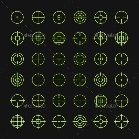 Crosshair Symbols - Sports/Activity Conceptual