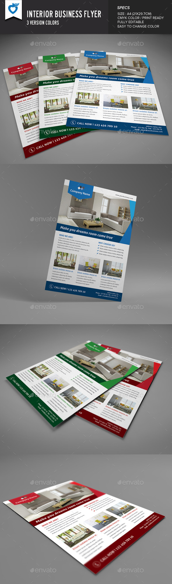 Interior Business Flyer - Corporate Flyers