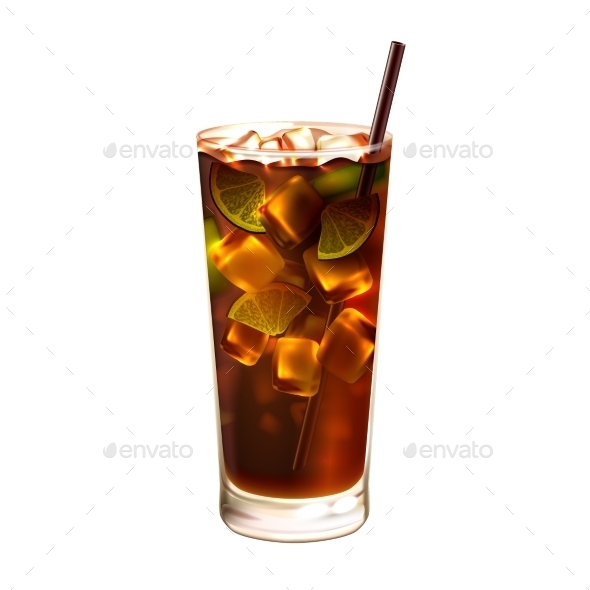 Long Island Ice Tea - Food Objects