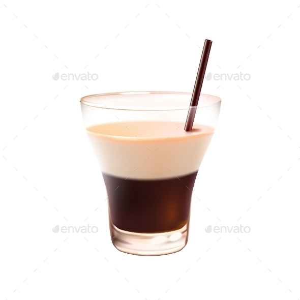 White Russian Cocktail - Food Objects