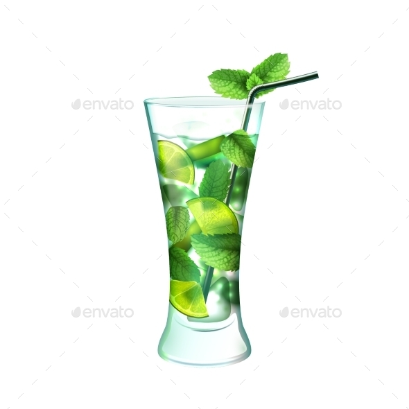 Mojito Cocktail  - Food Objects